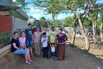 the pastor and our team at the site of the new church