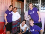 Part of our team during food distribution