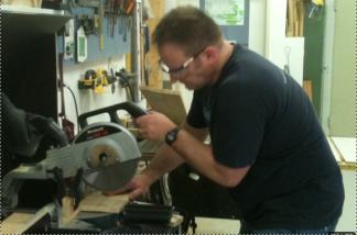 Matt uses his woodworking skills
