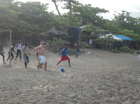 Soccer at the beach