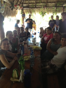 Having lunch with some vocational students from Rey Solomon