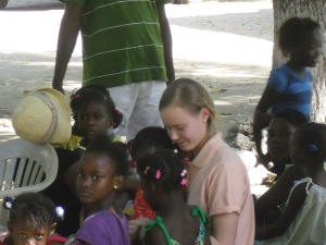 Christina is a magnet for the local children