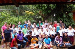 Group photo at the zoo with sponsored children from TPCC