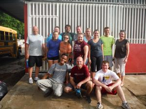 A part of the team after working to get a special needs medical clinic ready to go!