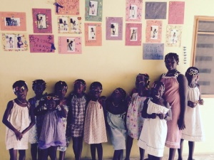 Girls at Strong Tower Orphanage after 'Glitter Party'.