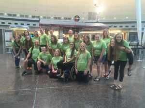 The whole team at the airport!