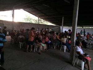 After a parent meeting, we hosted a dinner and a movie night for children and parents of the special needs community.