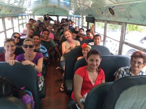 The team and our Nicaraguan friends on the way to the sponsorship outing!