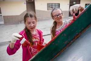 Brightening up the playground!
